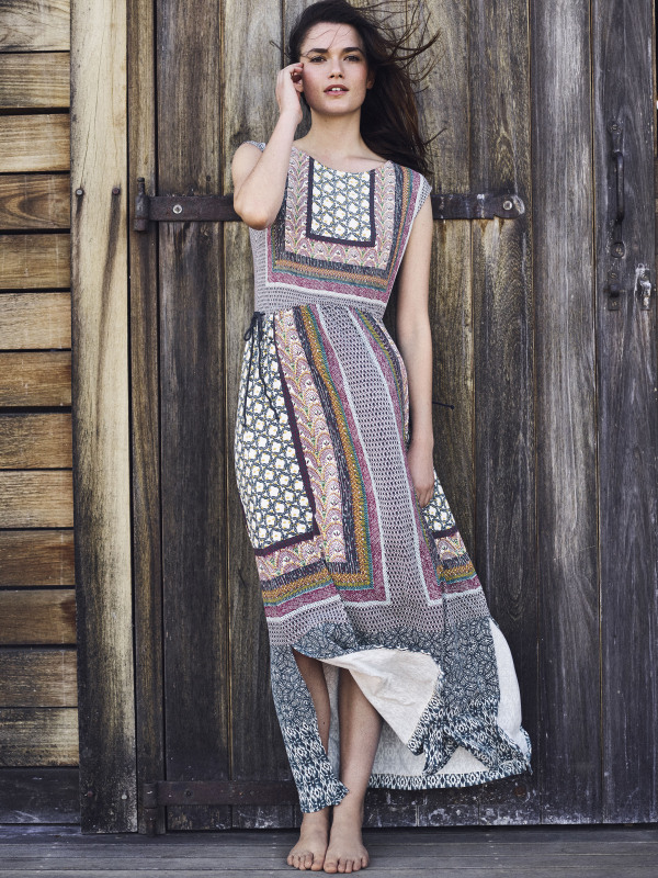 White Stuff Tribal Trail Jersey Maxi Dress