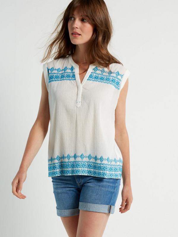 White Stuff Pixie Emb Hem Vest