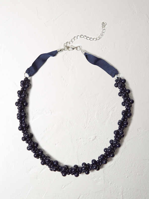 White Stuff Clustered Bead Necklace