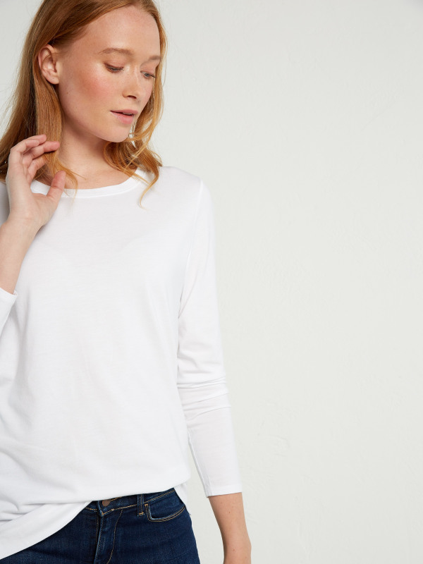 White Stuff Brushed Layer Jersey Tee