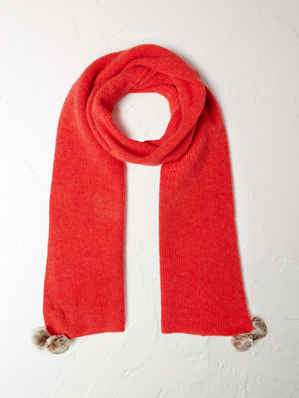 White Stuff Riley Ribbed Scarf