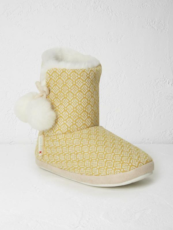 White Stuff Tori Jacquard Slipper Bootie
