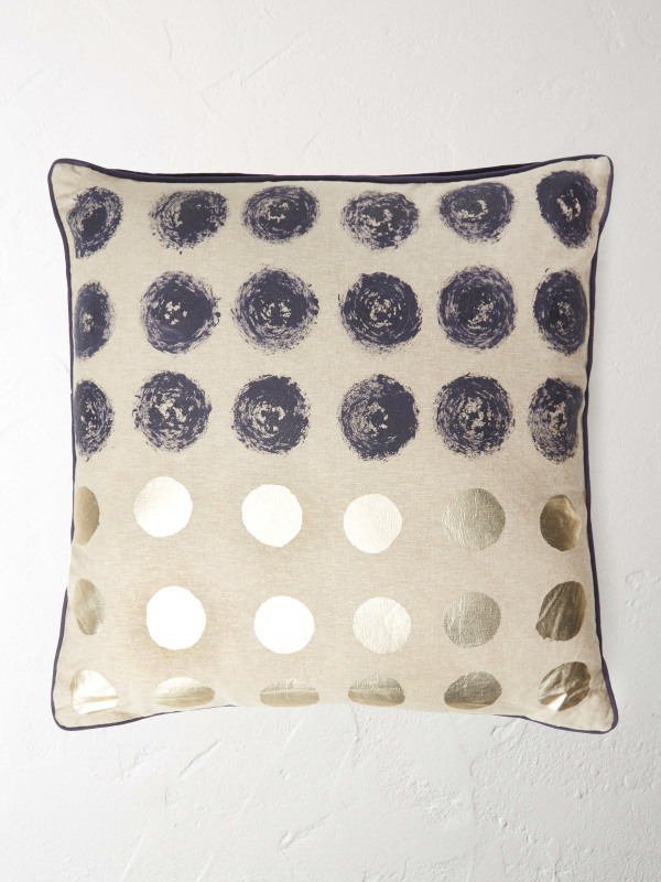 White Stuff Blue Spot Cushion