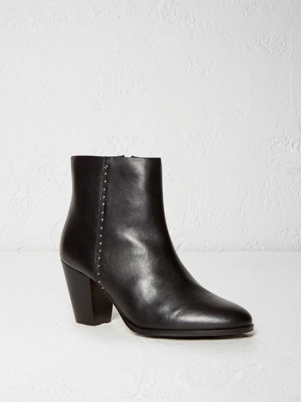 White Stuff Sky Leather Block Heel Boot