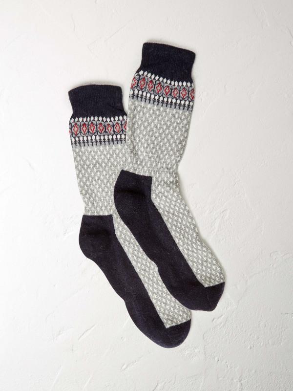 White Stuff Chunky Fairisle Boot Sock