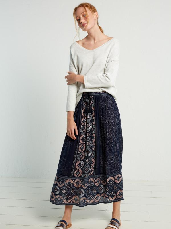 White Stuff Savannah Maxi Print Skirt