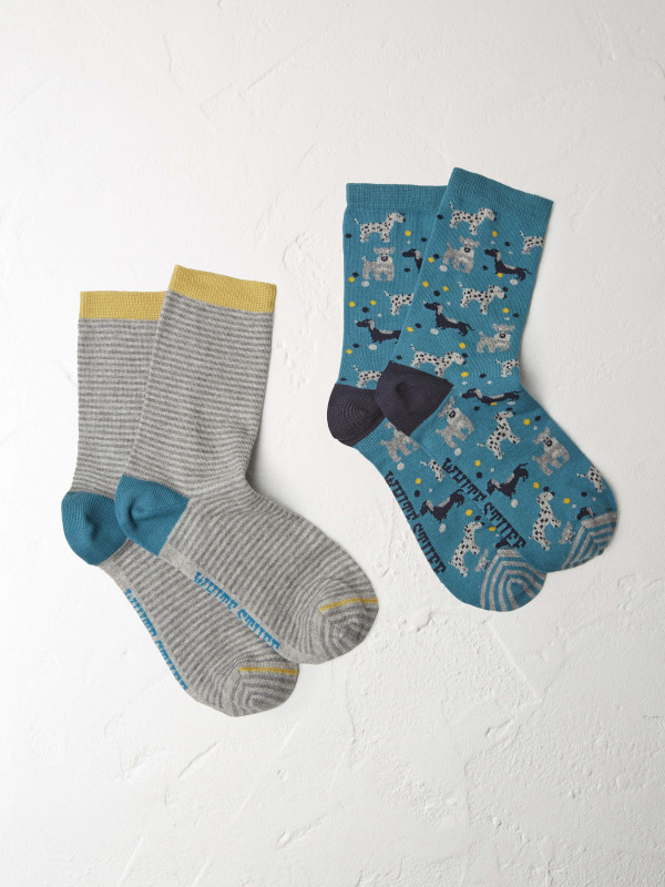 White Stuff Dog Socks 2 Pack