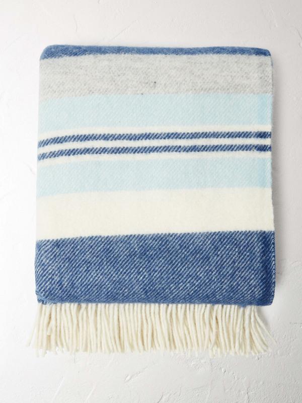 White Stuff Stripe Stack Wool Throw