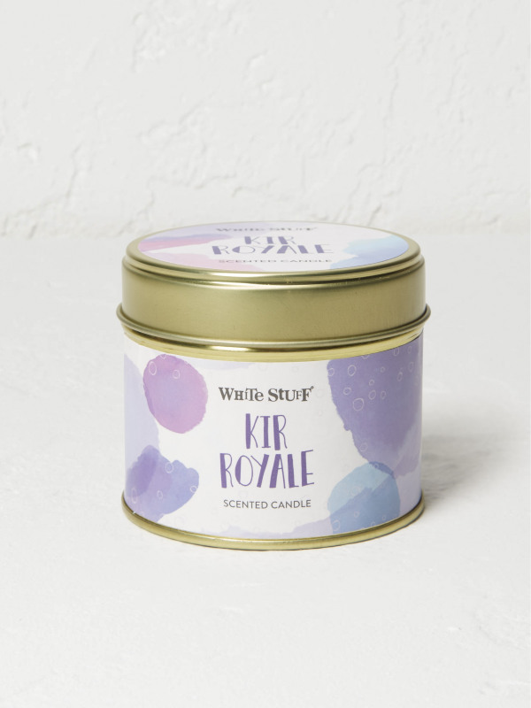White Stuff Kir Royale Tin Candle