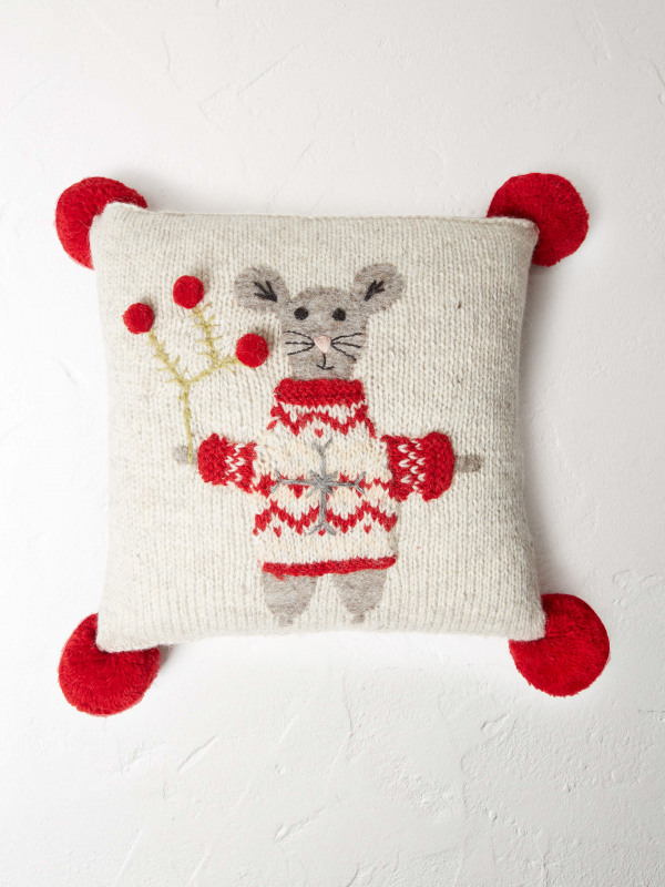White Stuff Mouse Cushion
