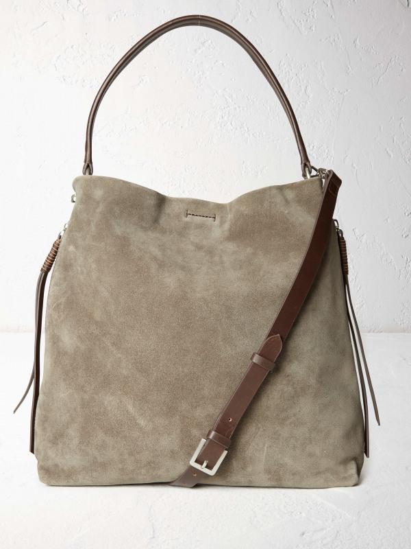 White Stuff Shea Suede Hobo Bag