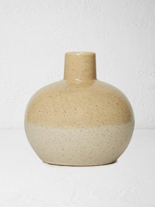 White Stuff Textured Ceramic Vase