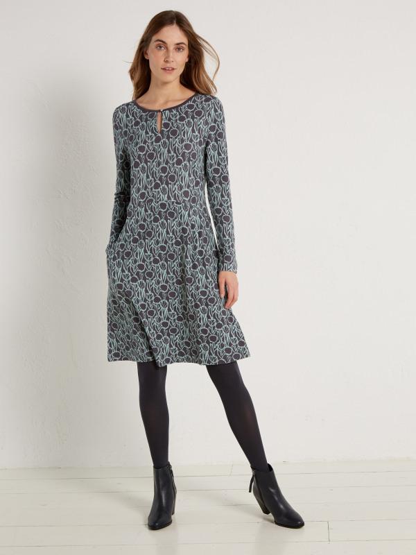 White Stuff Batik Print Jersey Dress