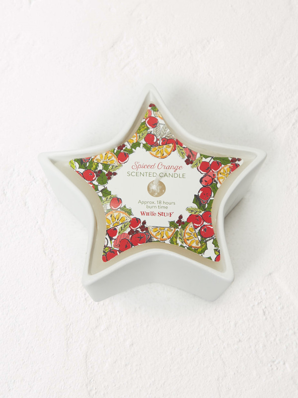 White Stuff Xmas Scent Star Candle