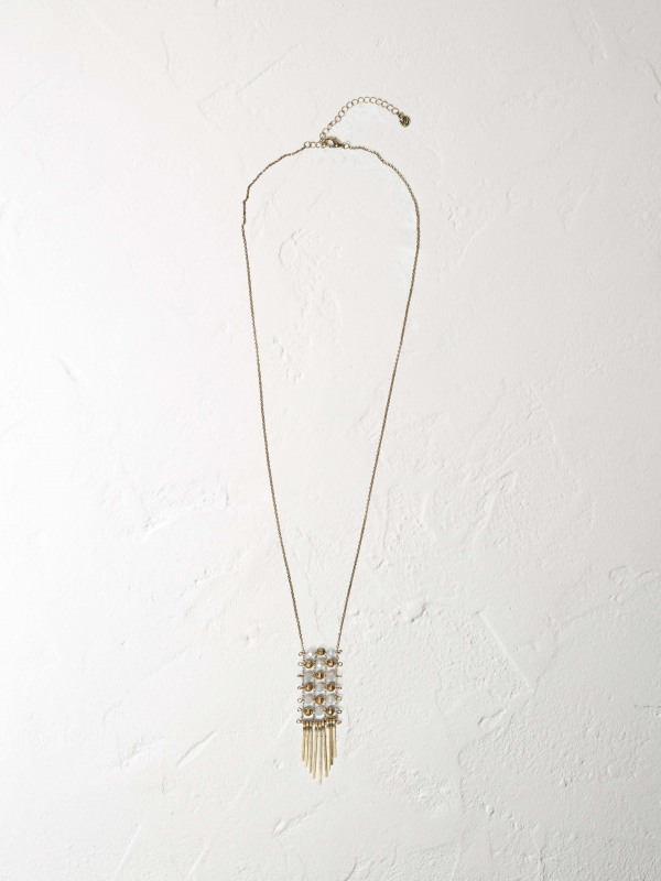 White Stuff Beaded Ladder Necklace