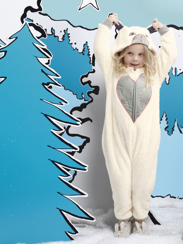 White Stuff Cat Fleecy Onesie