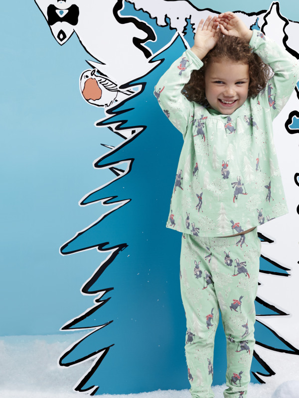 White Stuff Skiing Bunny Cuddly PJ