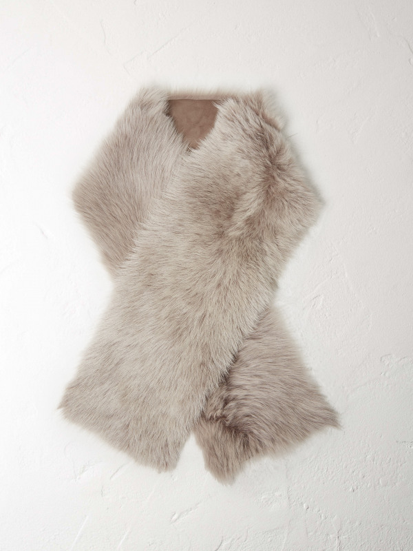 White Stuff Celtic Sheepskin Stole