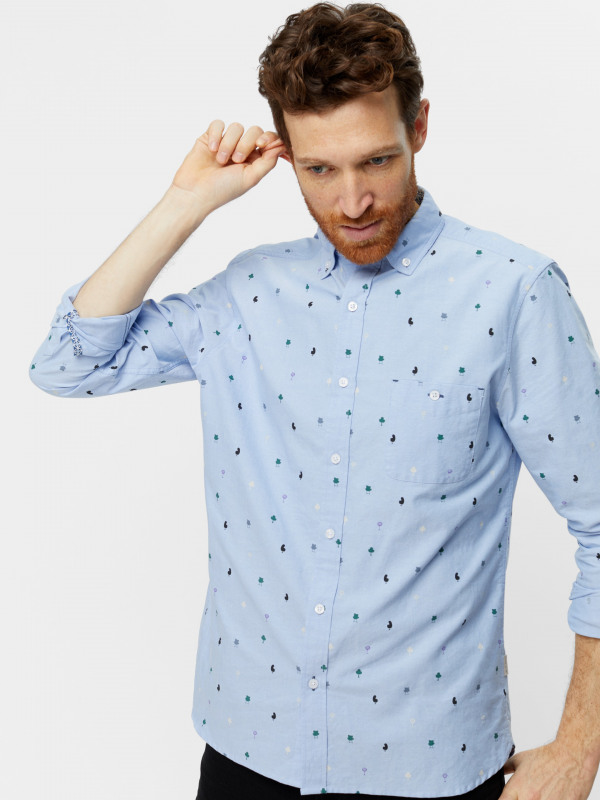 White Stuff Barstool Print Oxford Shirt