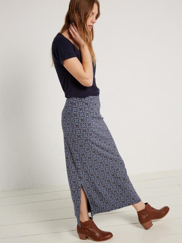 White Stuff Filly Print Maxi Jersey Skirt