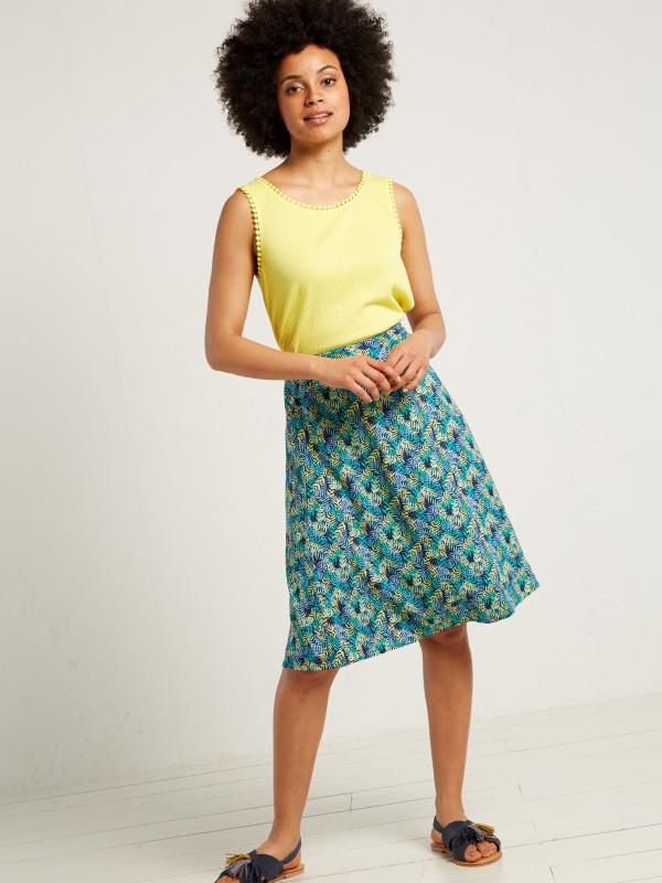White Stuff Stencil Spot Reversible Skirt