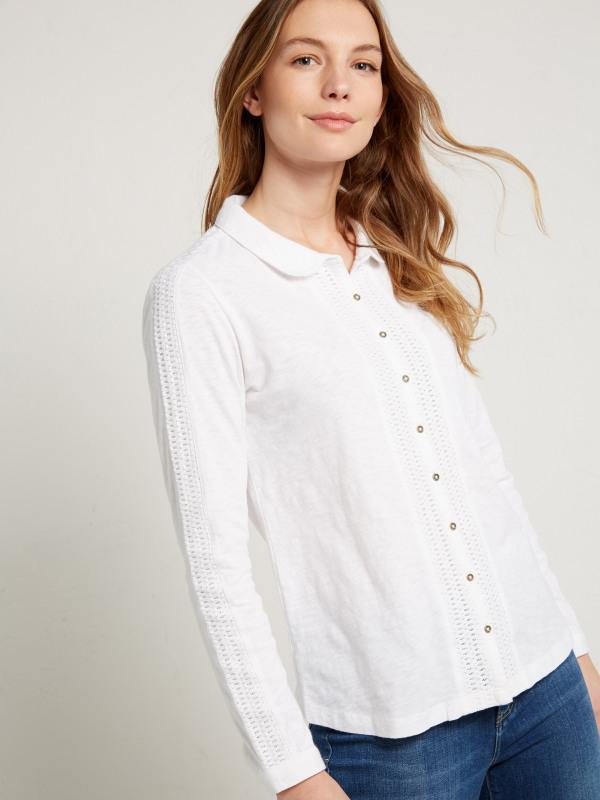 White Stuff Stateside Jersey Shirt