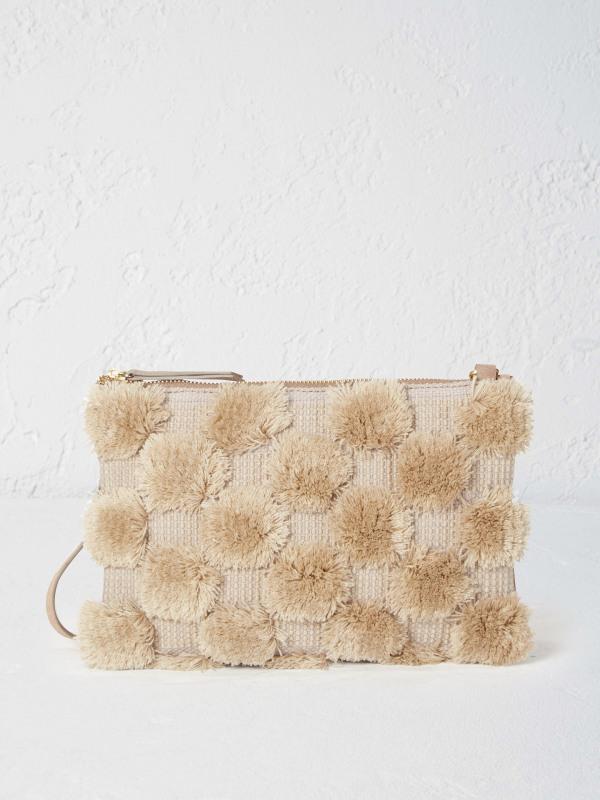 White Stuff Large Cammy Pom Crossbody Bag