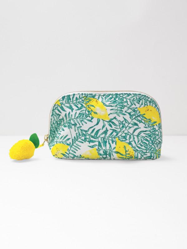 White Stuff Lemon Tree Make Up Bag