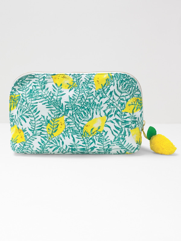 White Stuff Lemon Tree Wash Bag
