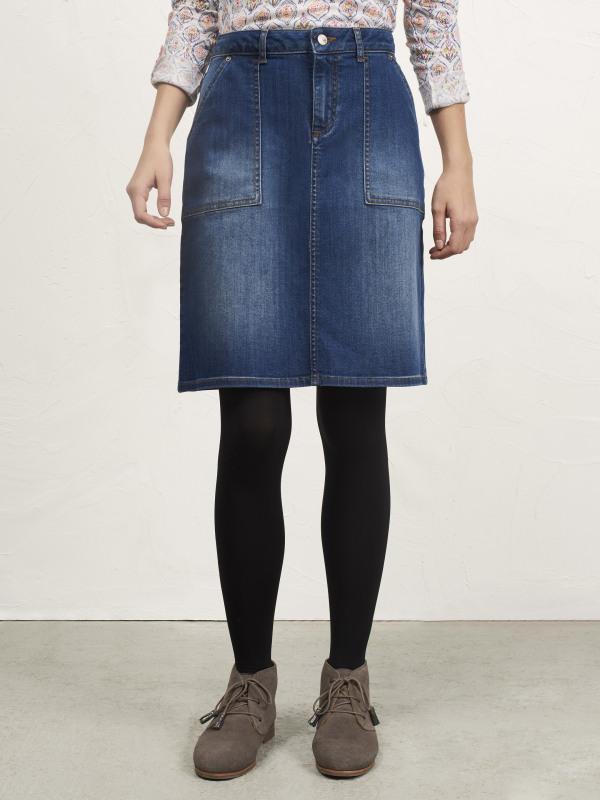 White Stuff Carpenter Denim Skirt