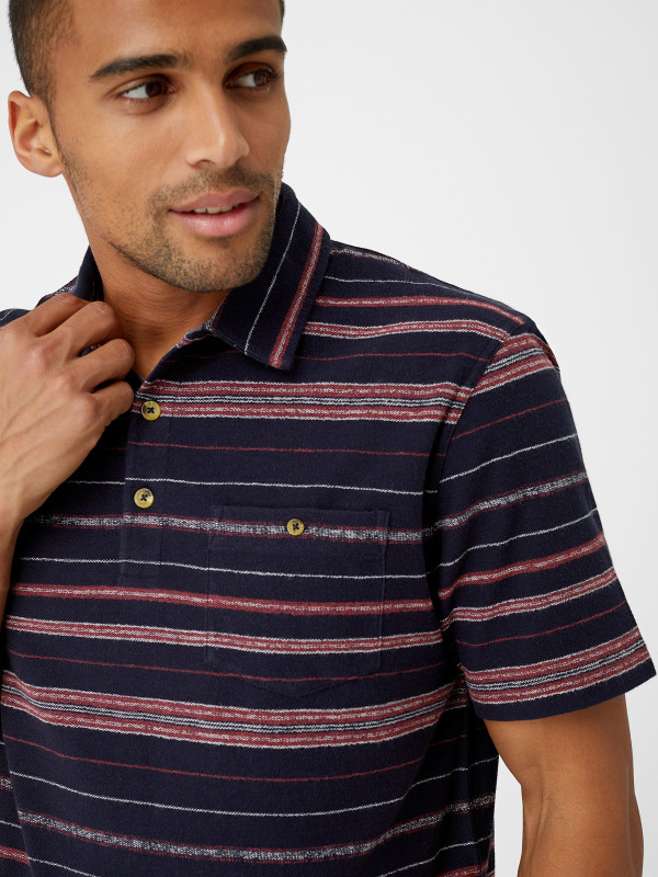White Stuff Phoenix Textured Stripe Polo