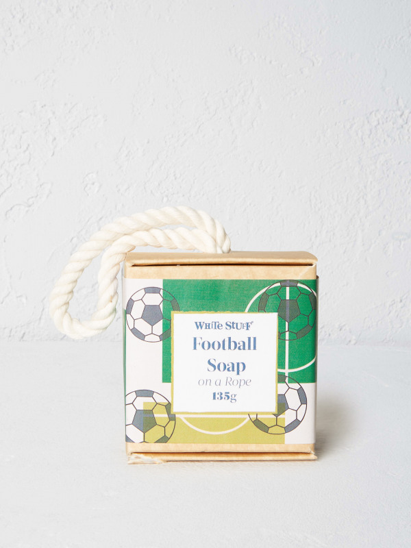 White Stuff Football Soap On A Rope
