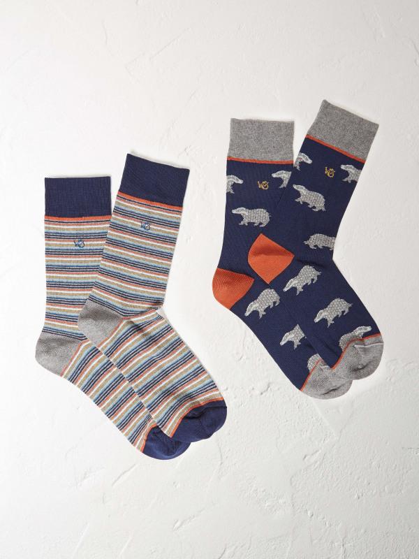 White Stuff Badger 2 Pack Socks