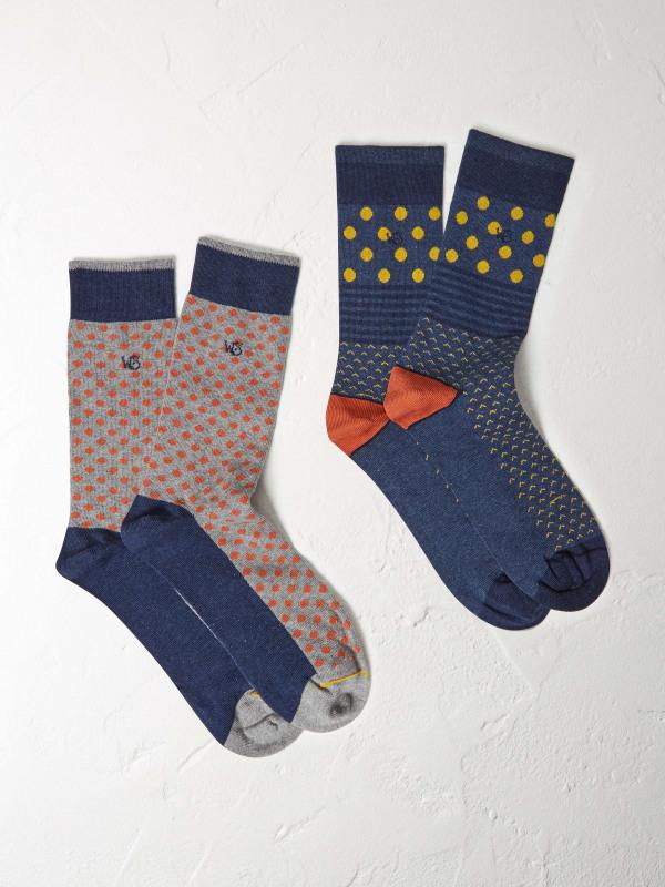 White Stuff Hotch Potch 2 Pack Socks