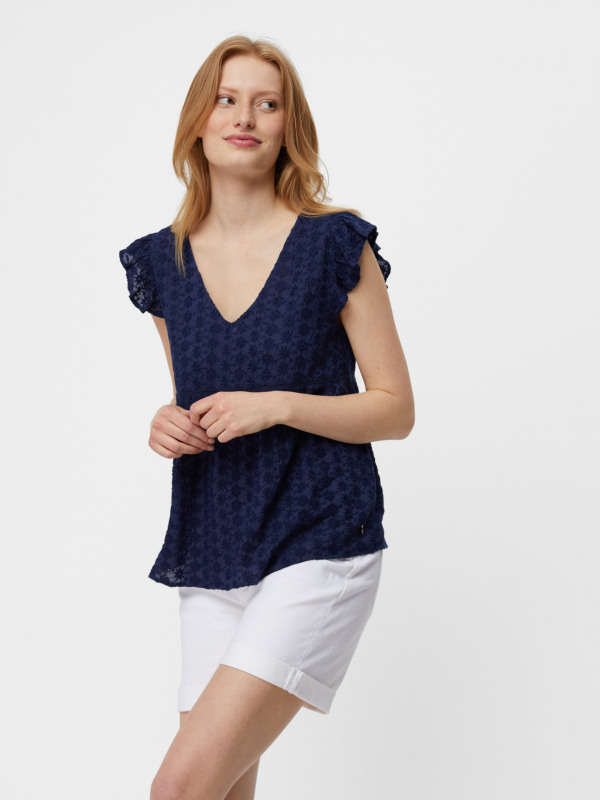 White Stuff Broderie Top