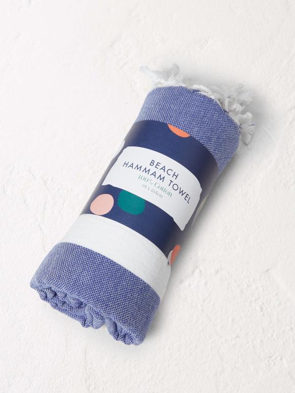 White Stuff Blue Stripe Hammam Towel