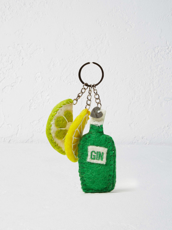 White Stuff Gin & Tonic Keyring