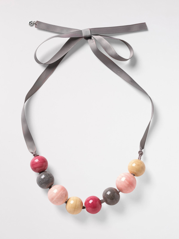 White Stuff Ceramic Bead Necklace