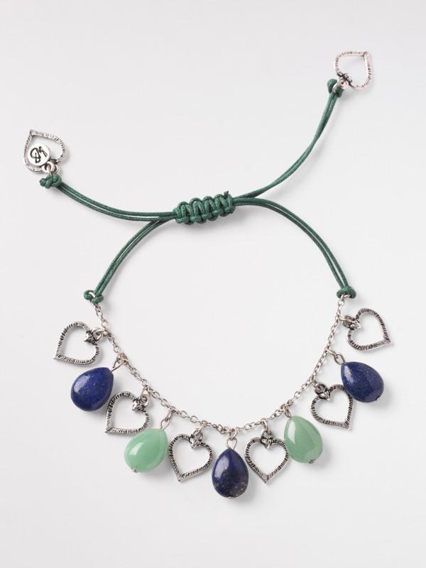 White Stuff Semi Precious Heart Bracelet