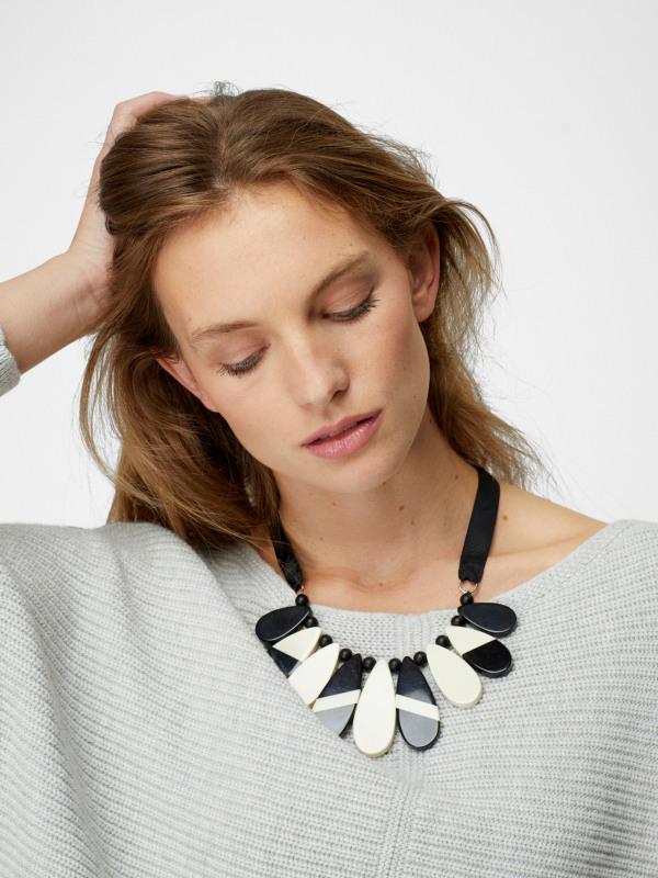 White Stuff Mono Teardrop Necklace