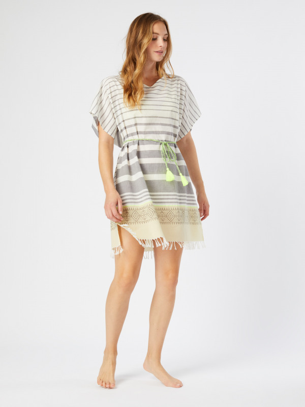 White Stuff Shoreline Stripe Kaftan
