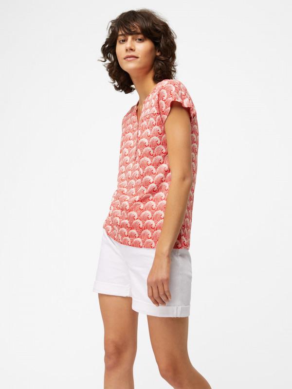 White Stuff Corrie Linen Jersey Shirt