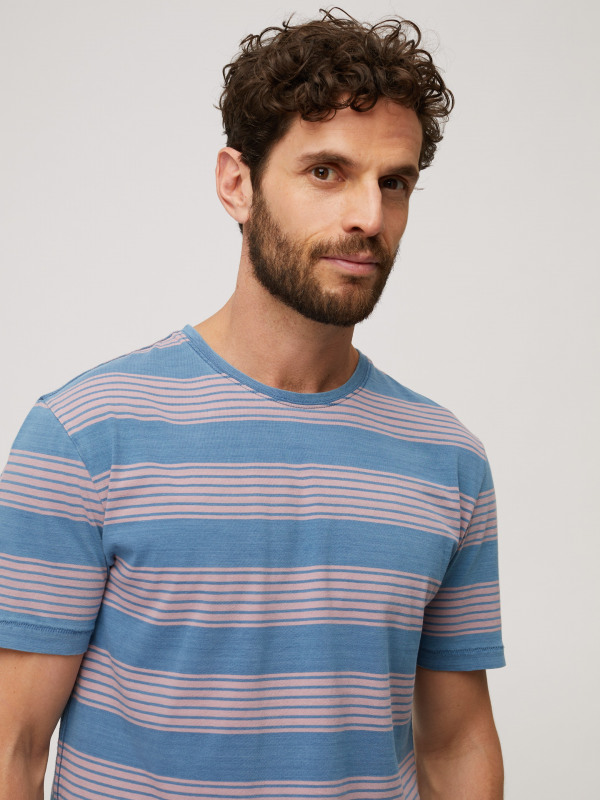 White Stuff Giviota Indigo Stripe Tee