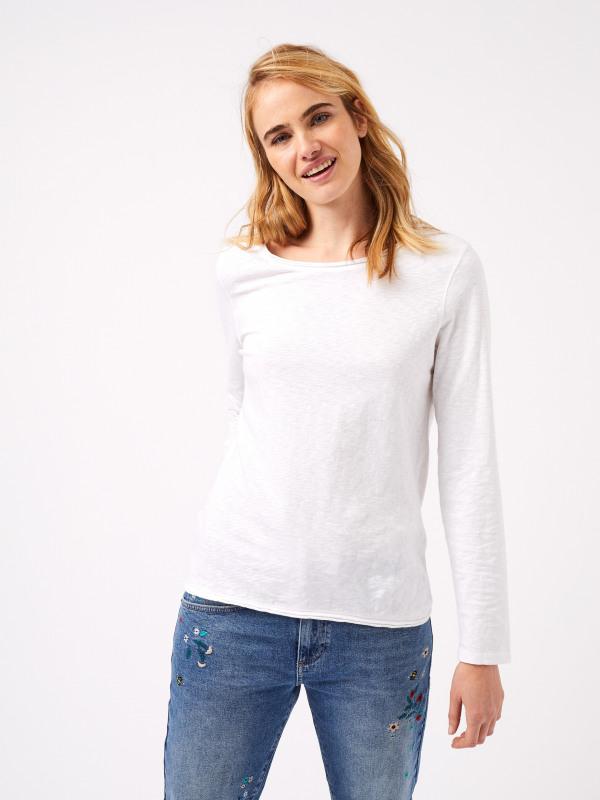 White Stuff Carly Garment Dyed Jersey Tee