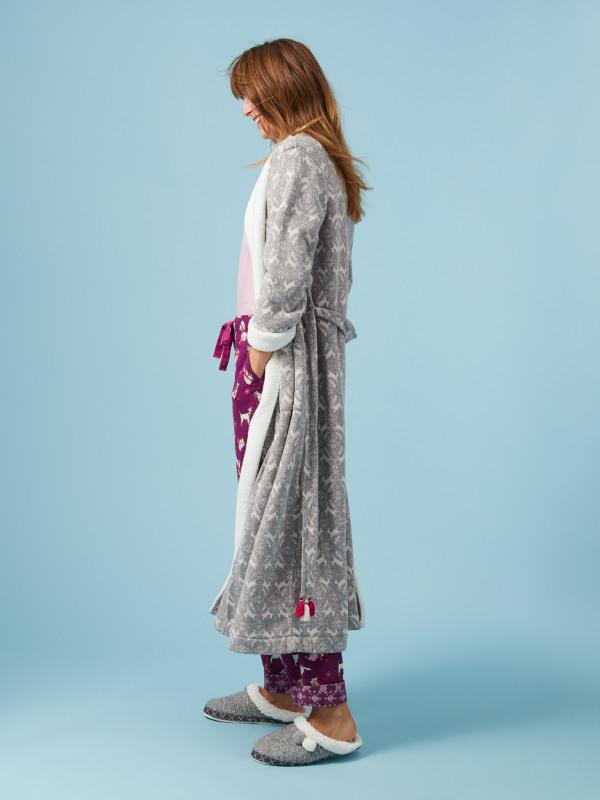 White Stuff Whimsical Long Fluffy Robe