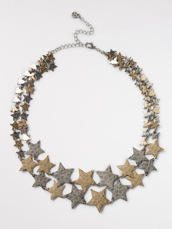 White Stuff Star Layered Necklace