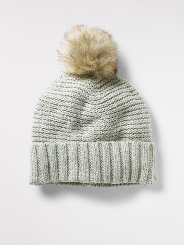 White Stuff Bridget Plain Bobble Hat