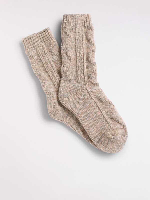 White Stuff Cable Boot Sock