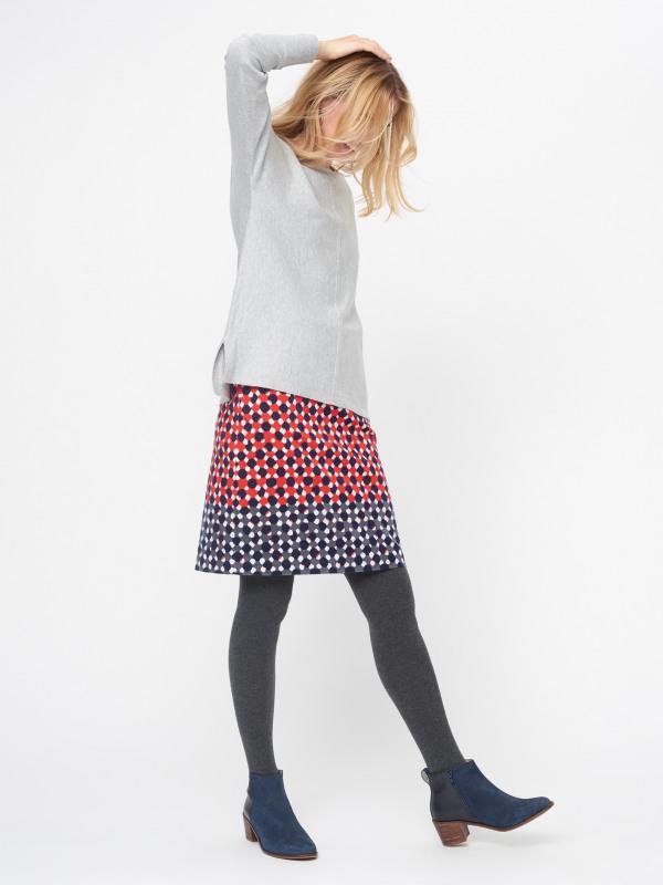 White Stuff Hedgerow Spot Velvet Skirt