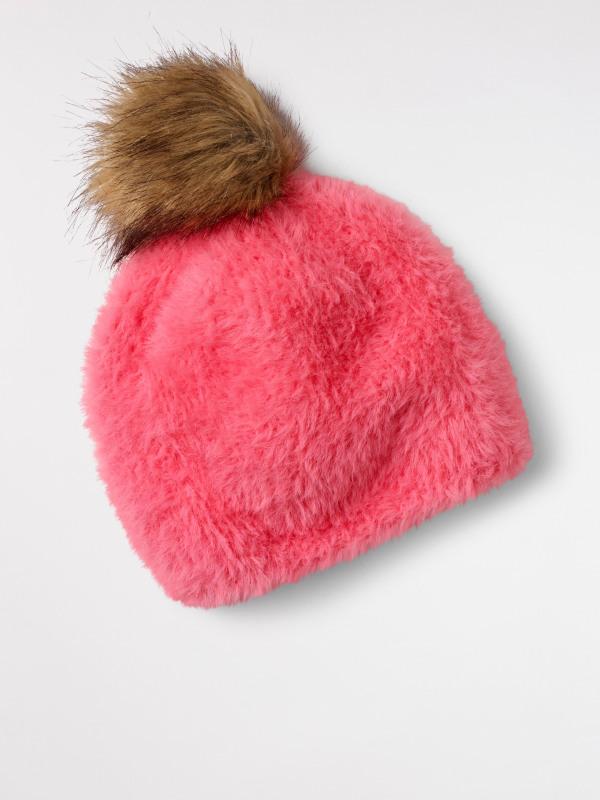 White Stuff Fluffy Bobble Hat